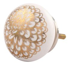 Ceramic floral pattern knobs