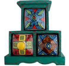 Three Drawers Spice Box