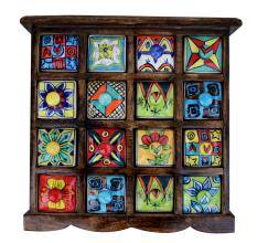 Sixteen Drawers Spice Box