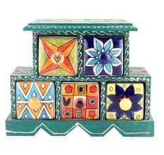 Five Drawers Spice Box