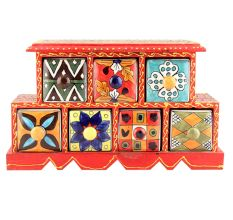 Seven Drawers Spice Box