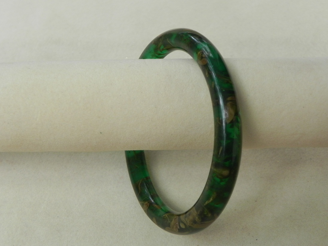Green Resin Bangles
