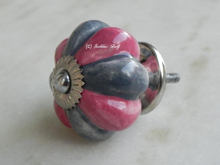 Pink Grey Knob
