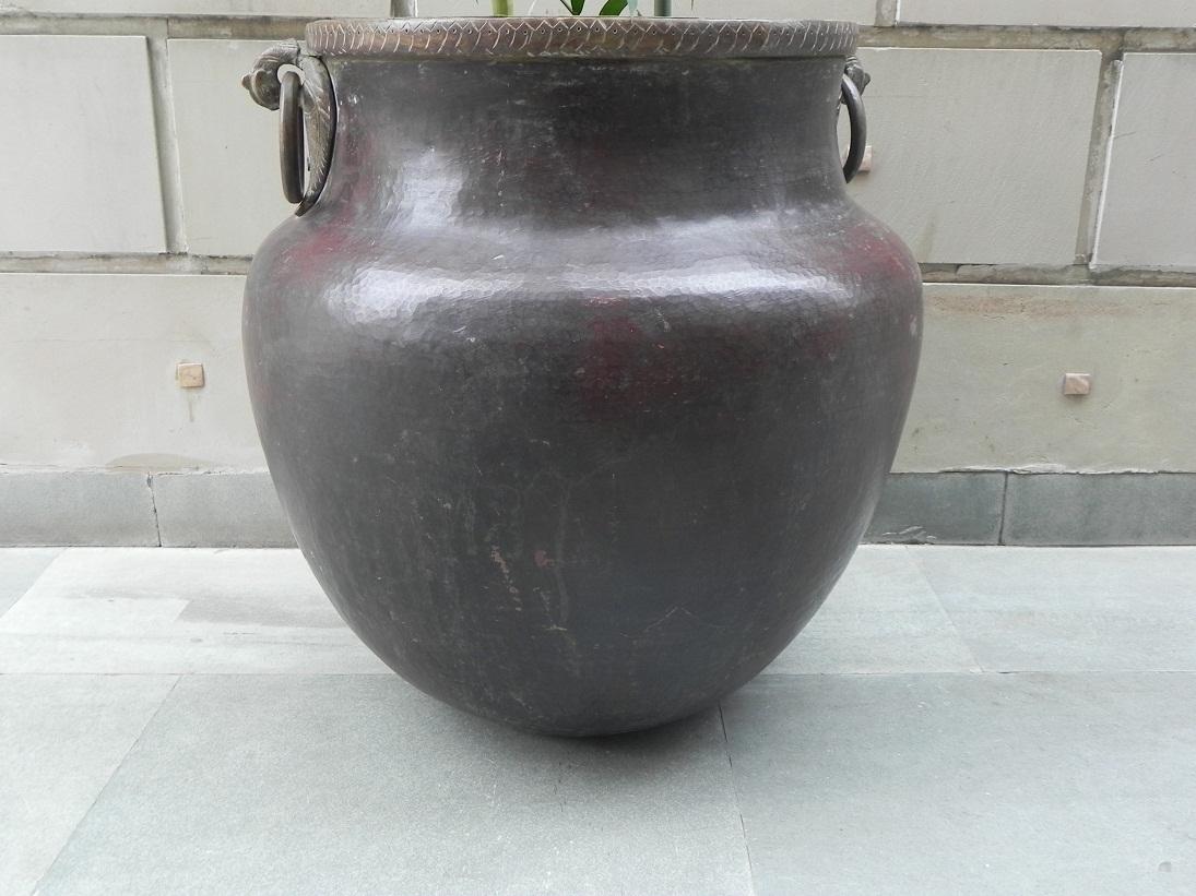 Vintage Bronze Planter -25.5 X 25 Inches