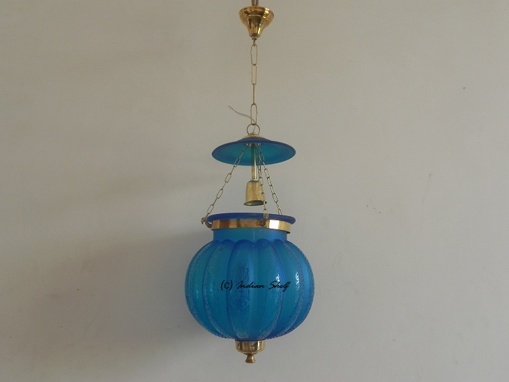 Turquoise Melon Lamp
