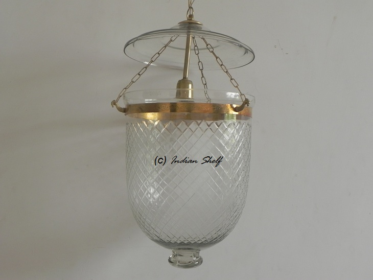 Clear Cut Glass Lamp
