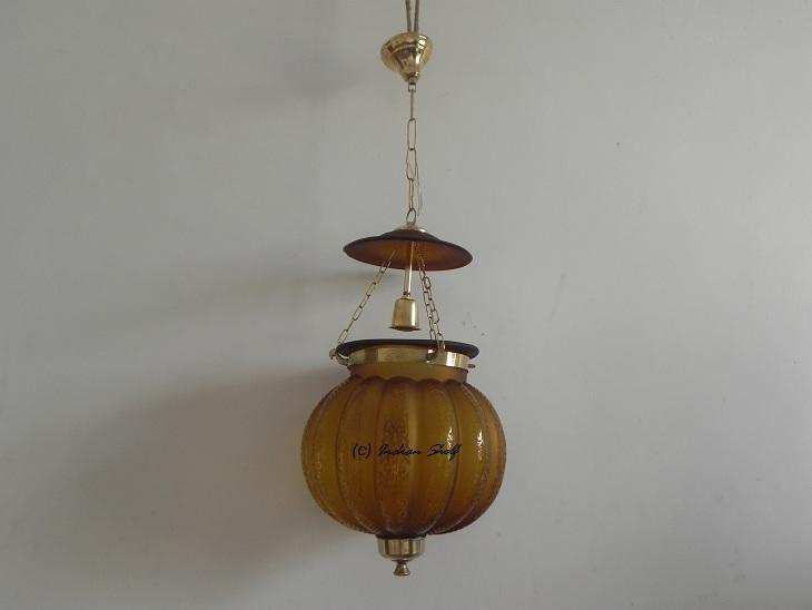 Light Amber Melon Lamp