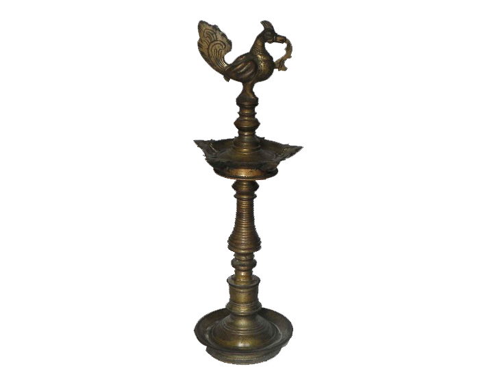 Vintage Oil Lamp-27 (Ht-20.5 Inches)