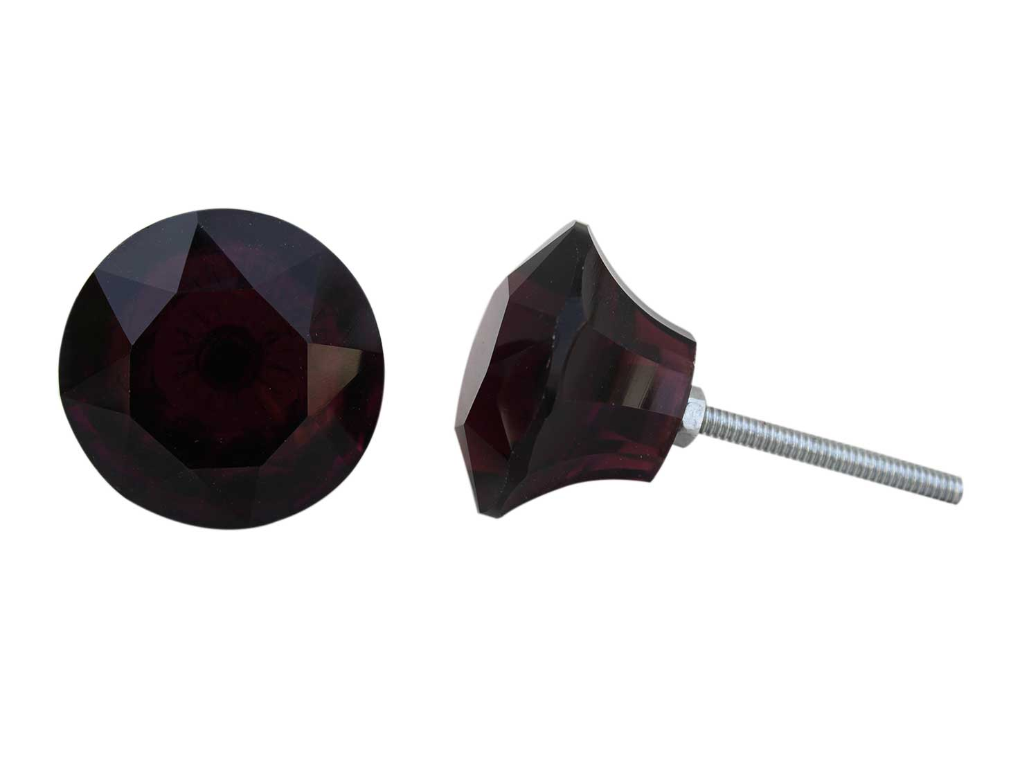 Dark Purple Cabinet Knobs Big