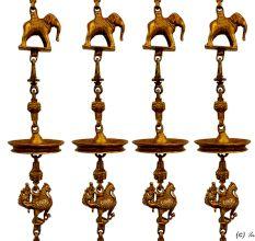 Elephant Peacock Brass Swing Chain