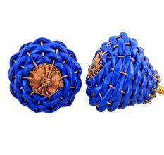 Navy Blue Rexine Wire Knobs