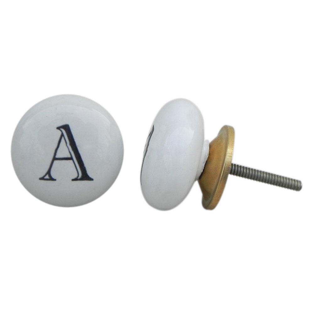 A Flat Alphabet Knob