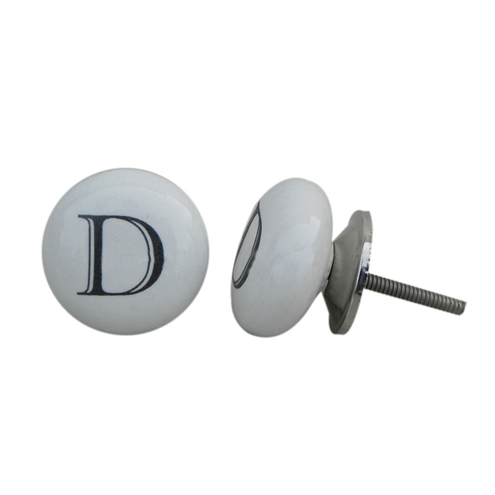 D Alphabet Cabinet Door Knob
