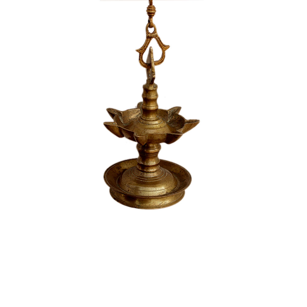 Bronze Oil Lamp-46 (Ht -44 Inches)