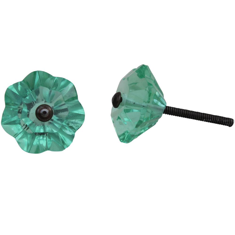 Floral Mint Color  Knob