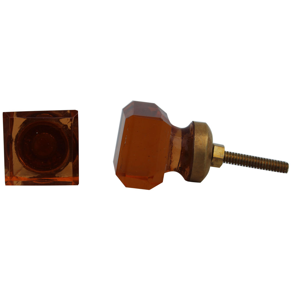 Amber Square Small Drawer Knobs
