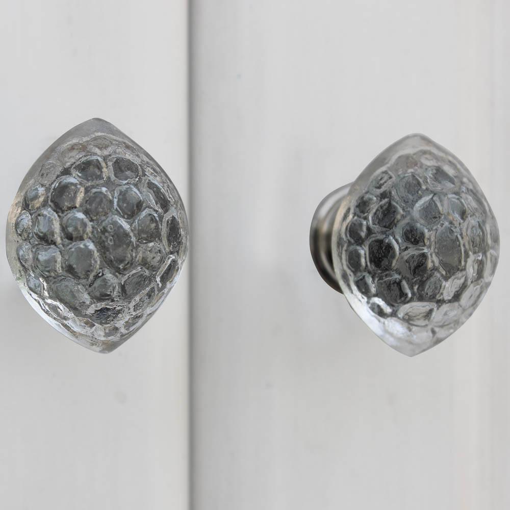 Clear Tortoise Glass Drawer Knob