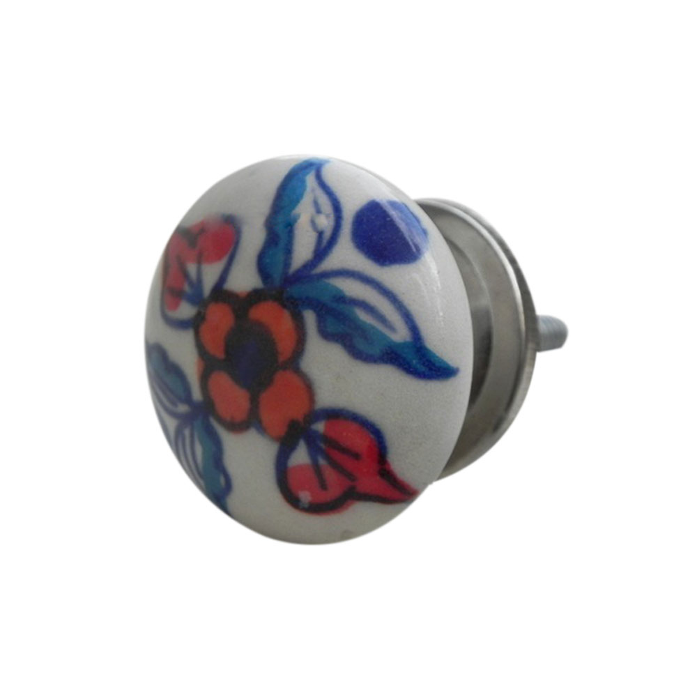 Blue Feather Flat Knob