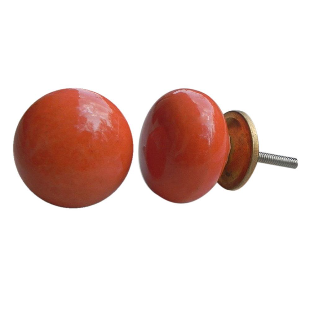 Orange Solid Knob