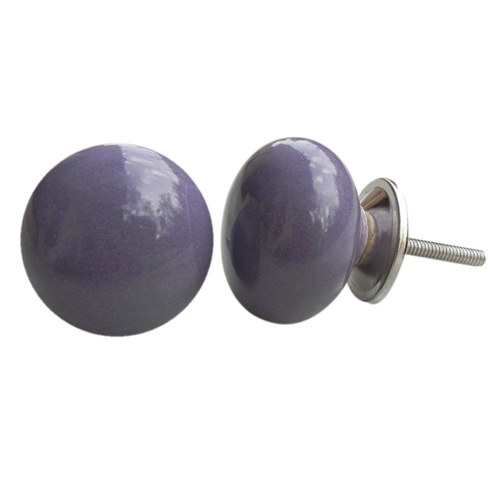 Purple Solid Knob