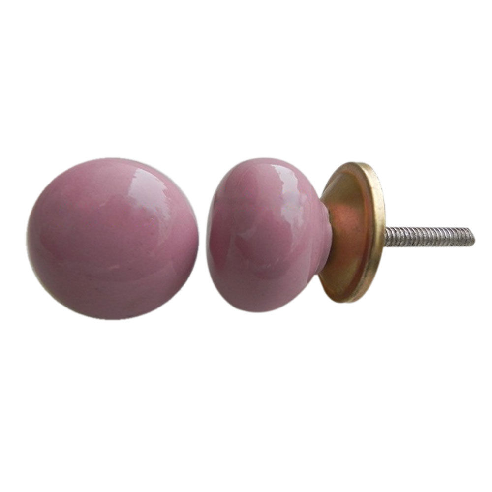 Pink Solid Knob Small