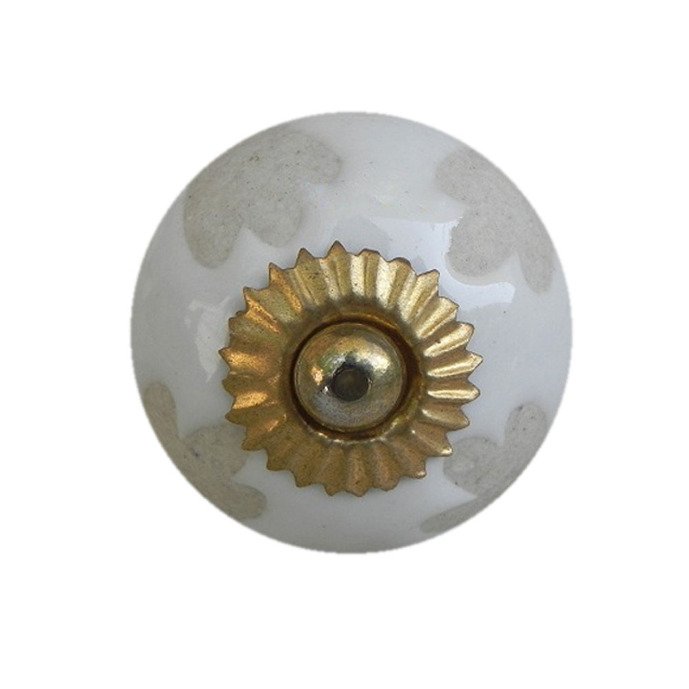 White Etched Ceramic Knob-26