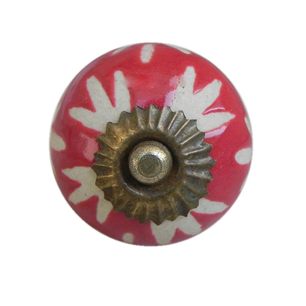 Red Etched Ceramic Knob-18