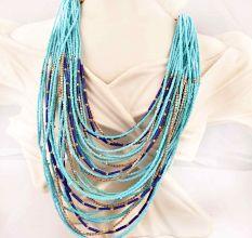 Blue Layered Necklace New Beautiful Jewellery