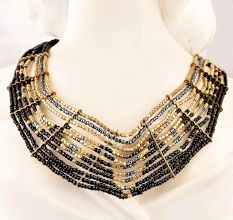 Black and Gold Necklace New Beautiful Jewellery