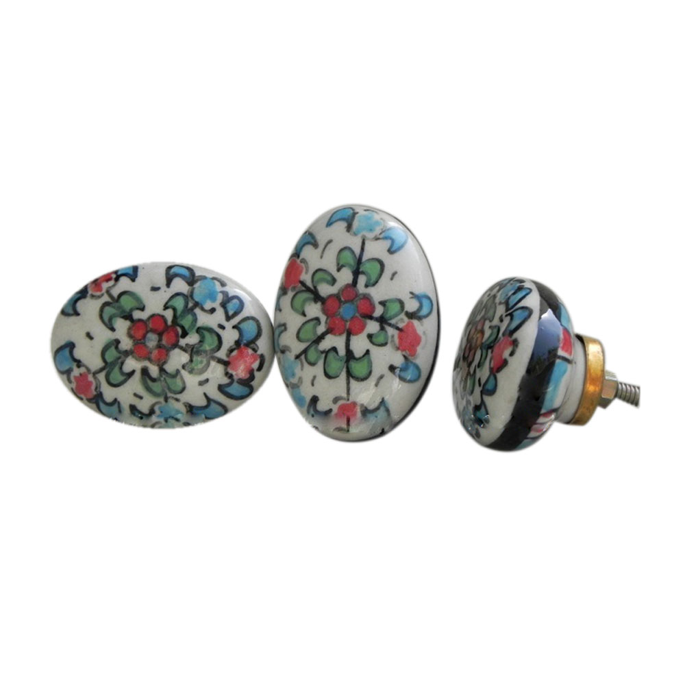 One flower ceramic knob