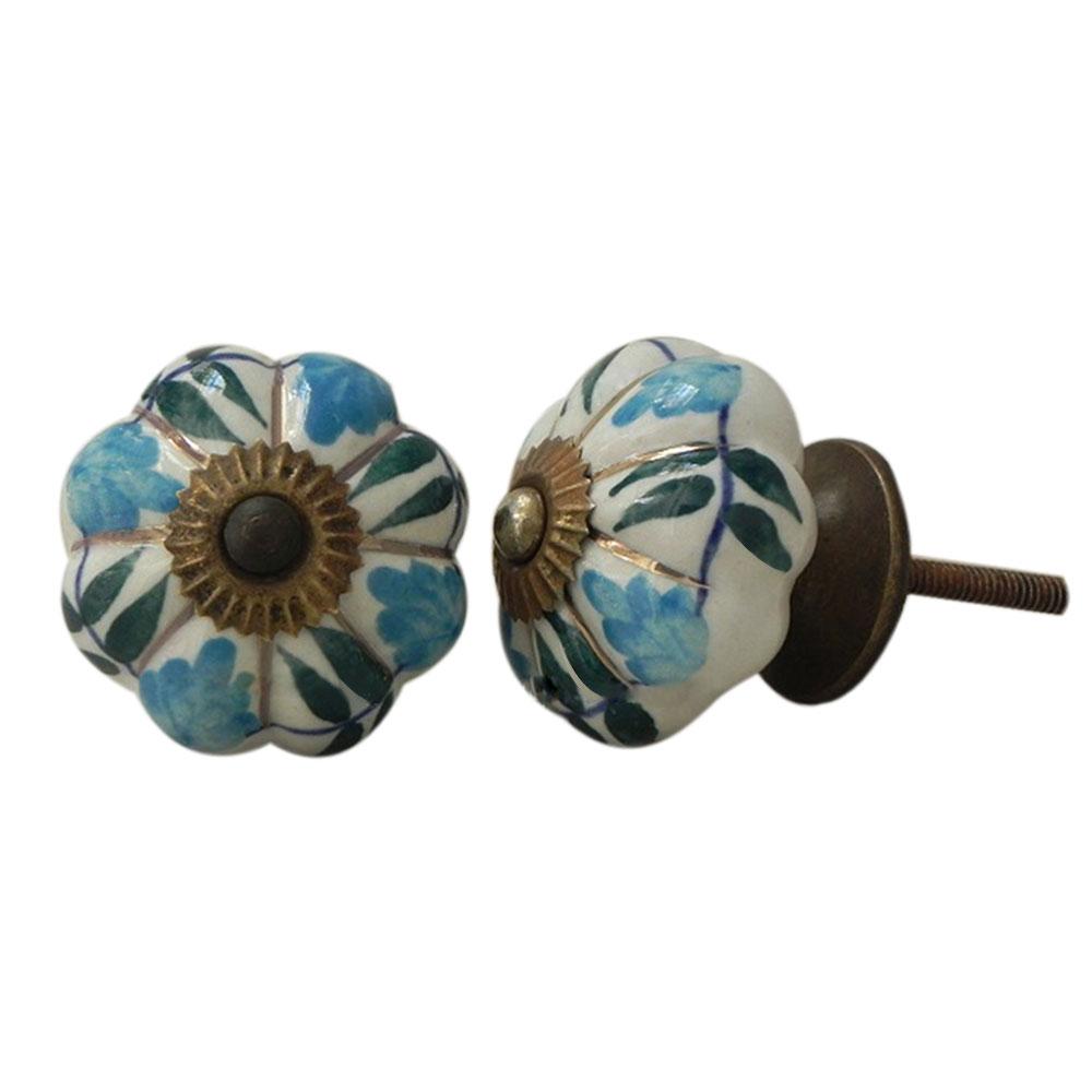 Lisianthus ceramic knob