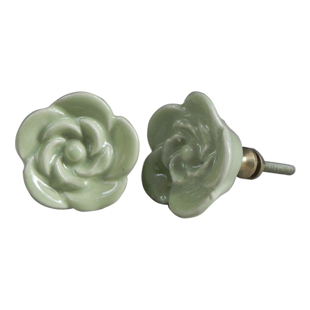 Green Rose Knob