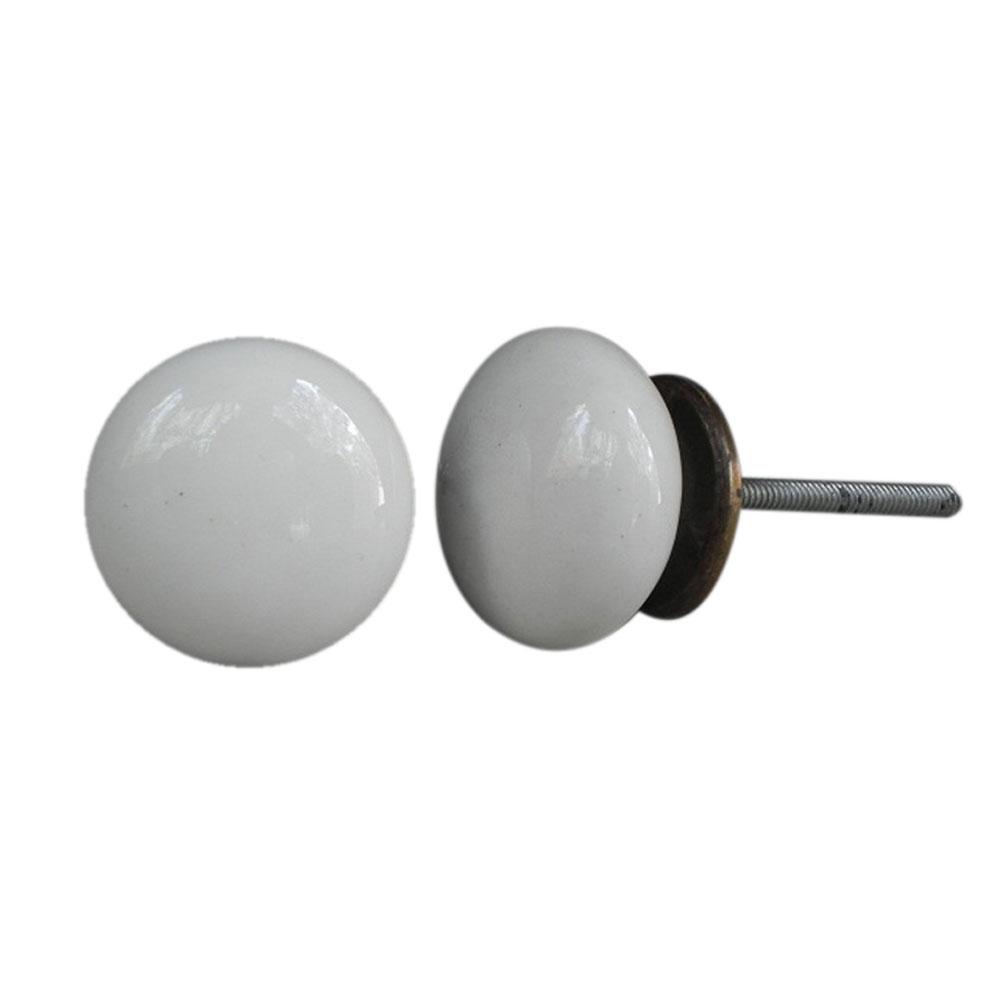 White Round Knob