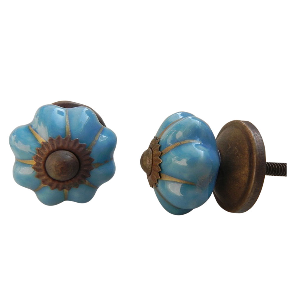 Blue Melon Knob Small