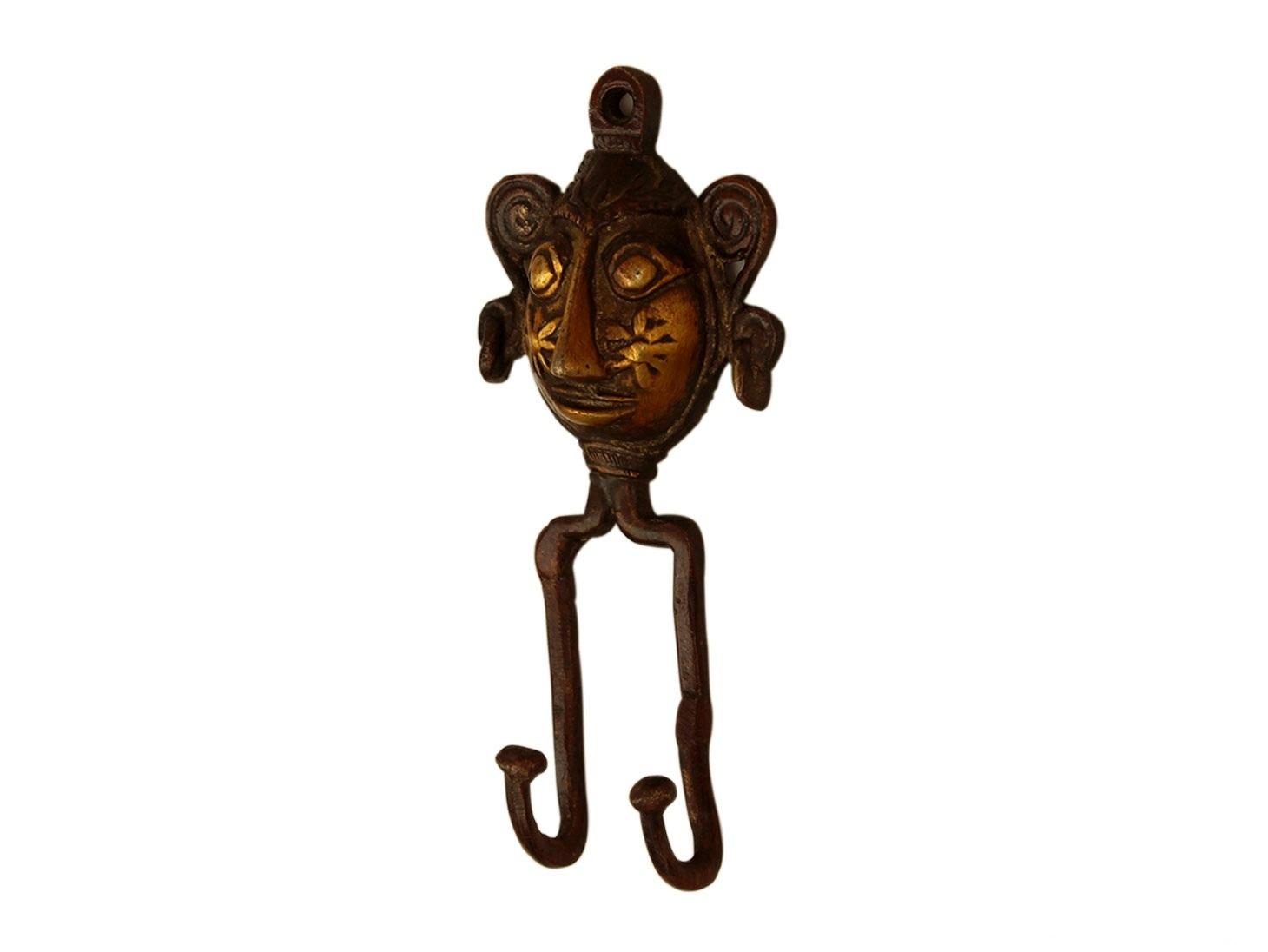 Bronze Tribal Face Hooks