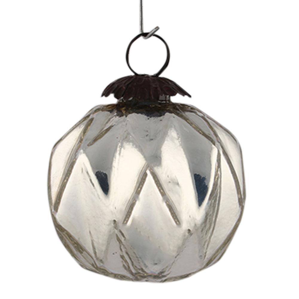 Silver Shine Box Cut Christmas Hanging Online