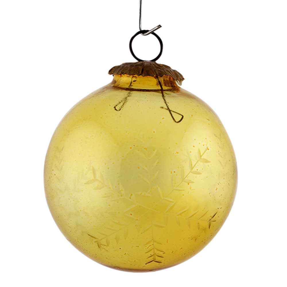 Yellow Leaf Cut Christmas Hanging Online