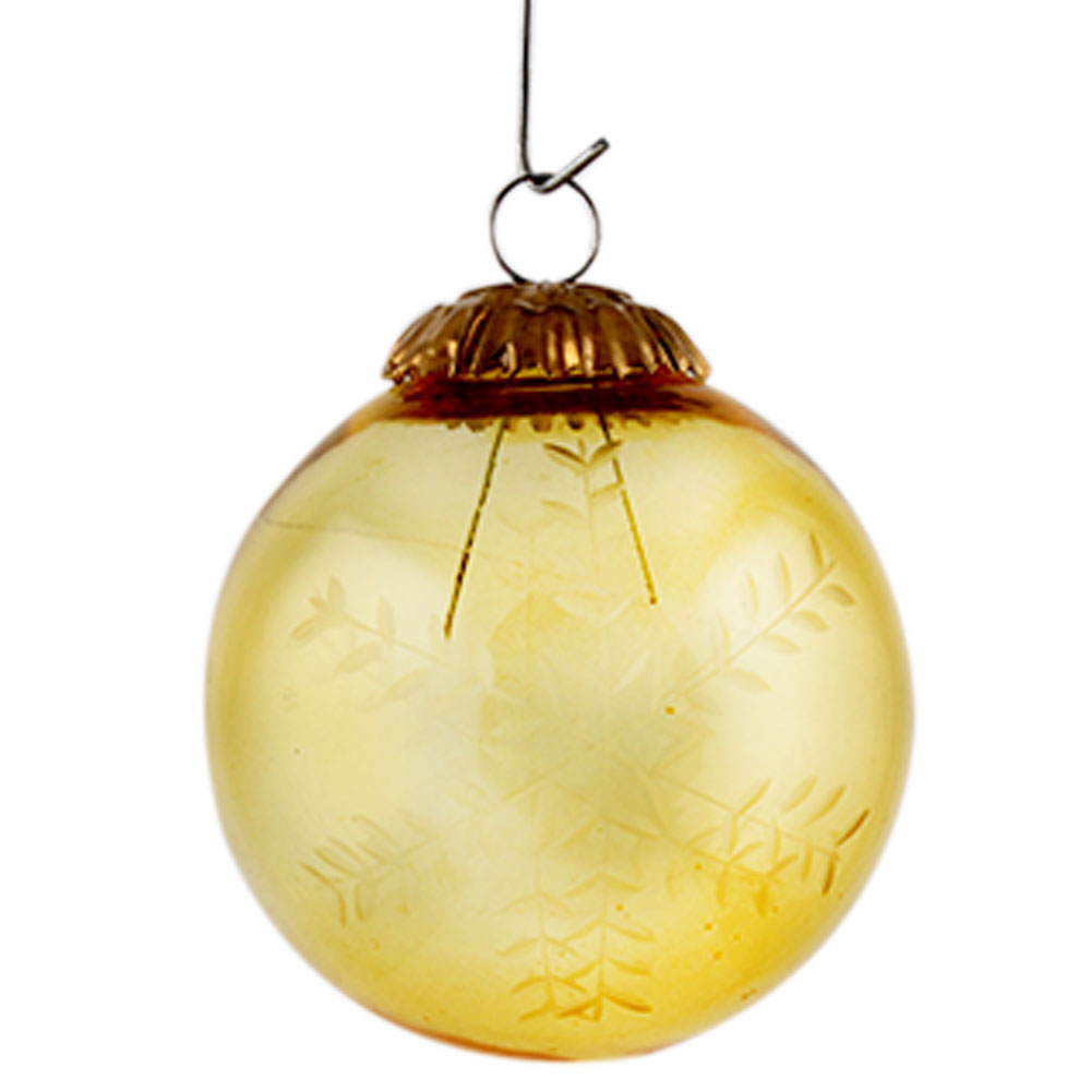Yellow Round leaf Christmas Hanging Online