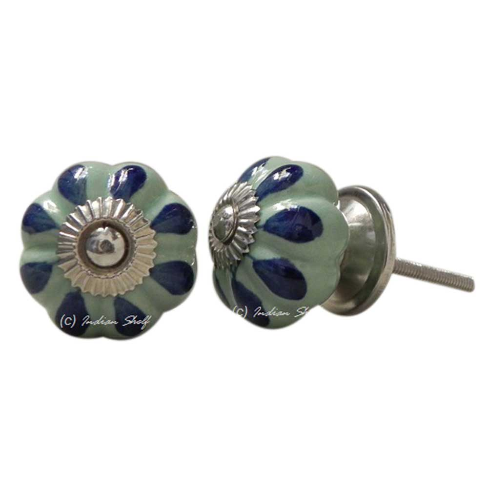 Blue drop medium knob