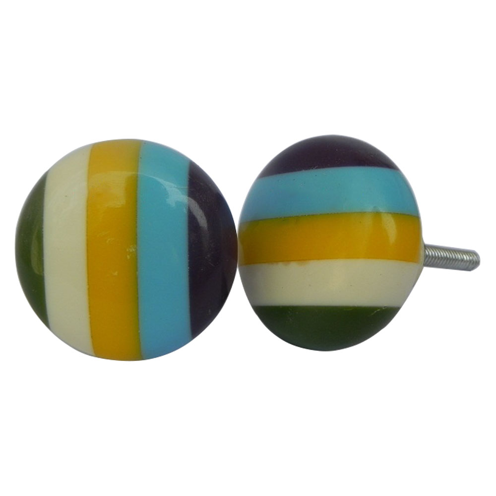 Colorful Stripes Medium Knob