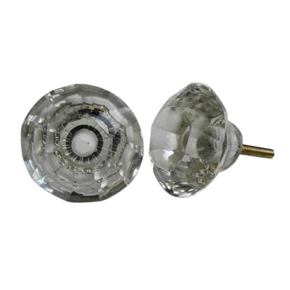 Clear Diamond Door Knobs Large