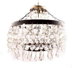Finest Cut Glass Pendant Chandelier.