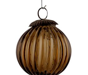 Dark Brown Solid Melon Christmas Hanging