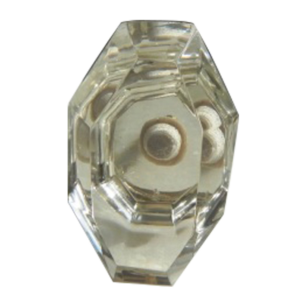 Tapered Baguette Glass Drawer Knobs