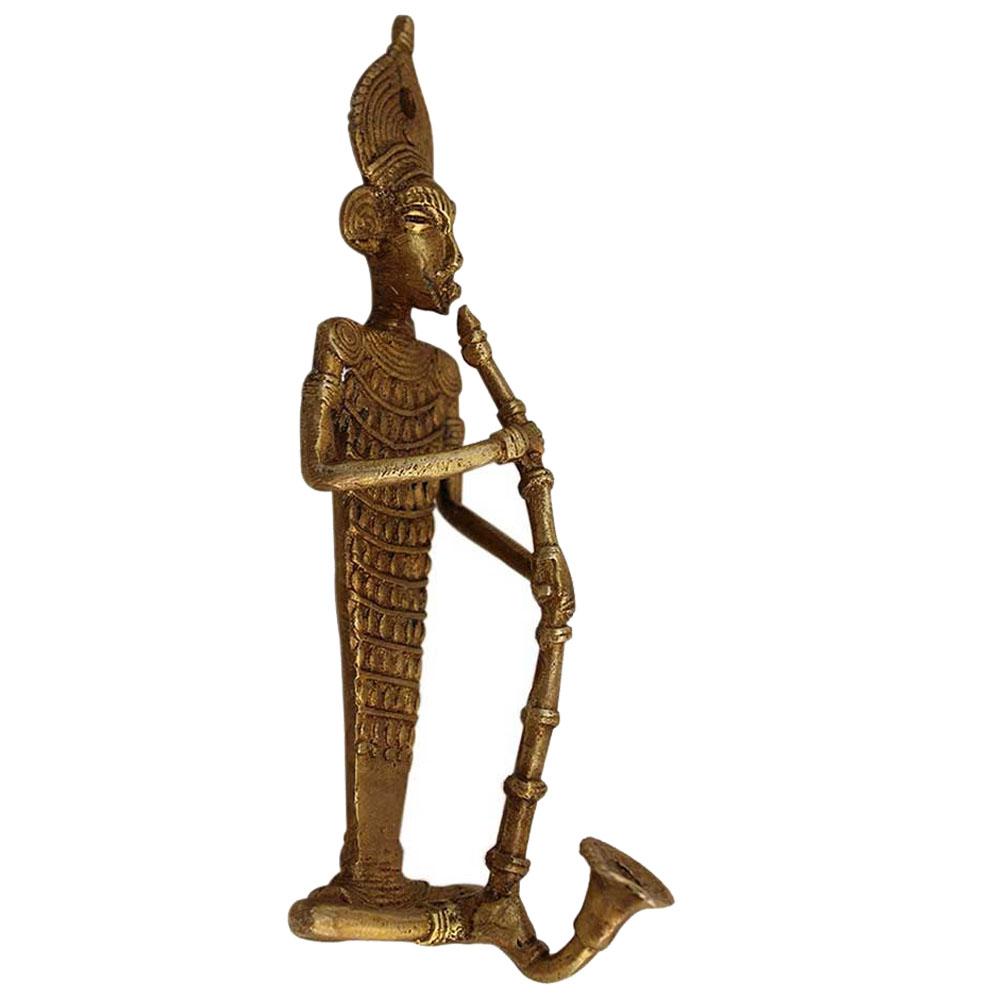 Bronze Tribal Musician Door Hook