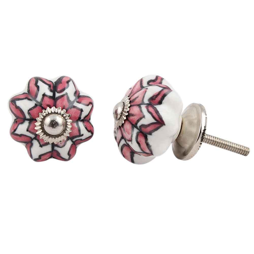 Pink Dahlia Medium Knob