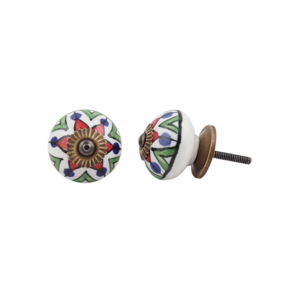 Green Triangle Ceramic Drawer Knob Online
