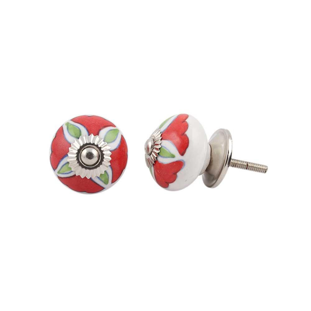 Hibiscus Green Flower Ceramic Dresser Knob Online