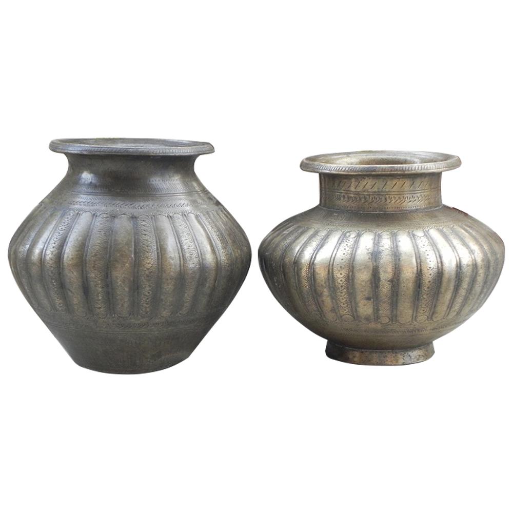 Bronze Pooja Spiral Design Water Pot