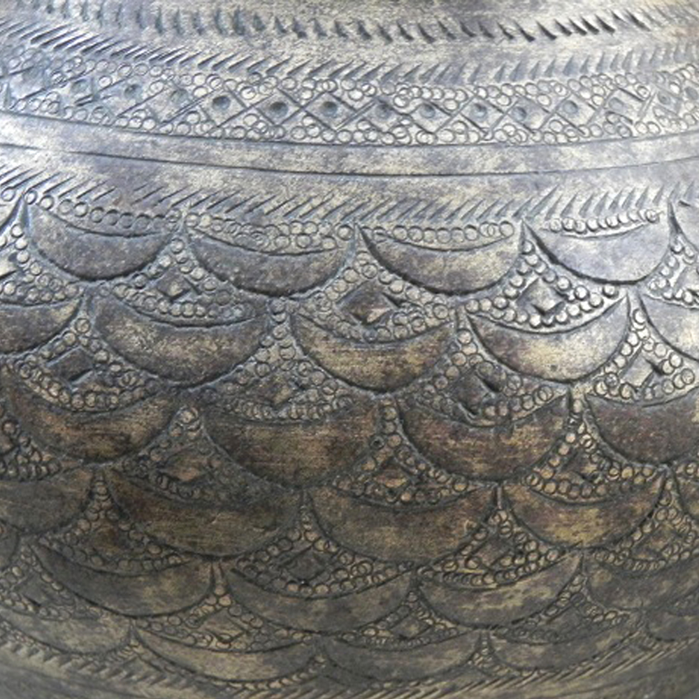 North Indian Engraved Bronze Water Pot